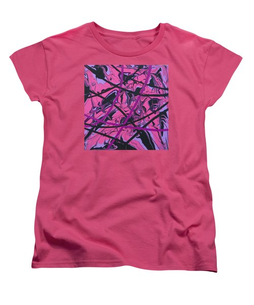 Pink Swirl Women's T-Shirt (Standard Cut) by Teresa Wing