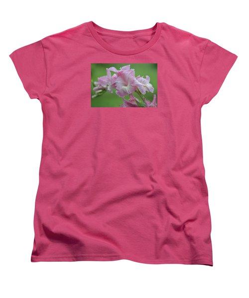 Pink Women's T-Shirt (Standard Cut) by Teresa Tilley