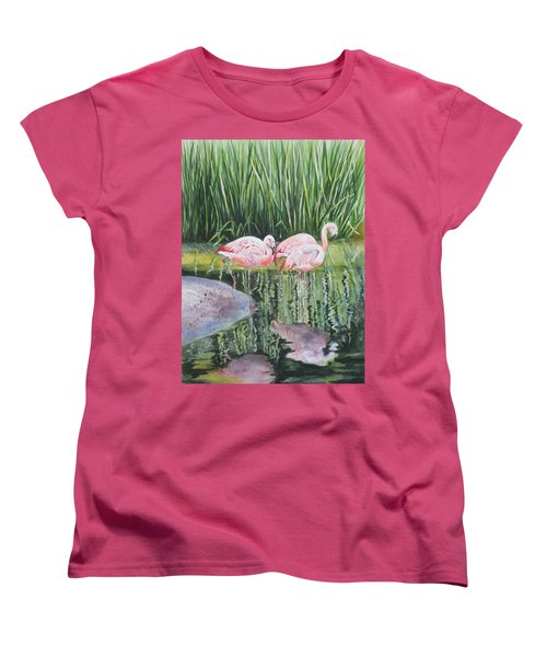 Pink Trio Women's T-Shirt (Standard Cut)