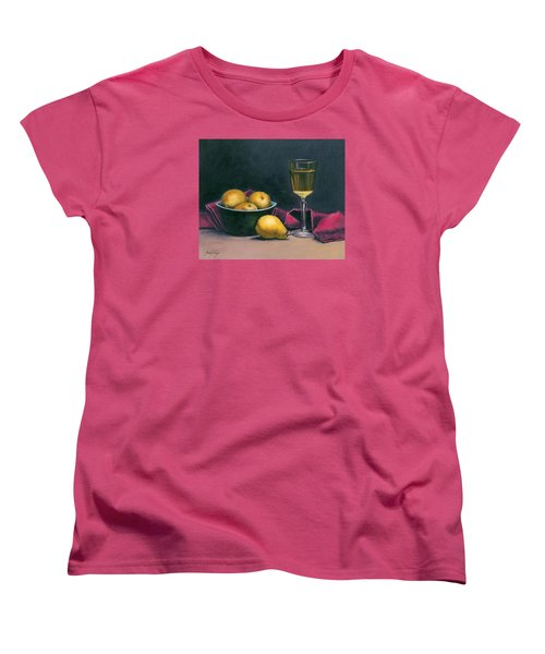 Women's T-Shirt (Standard Cut) featuring the painting Pinot And Pears Still Life by Janet King