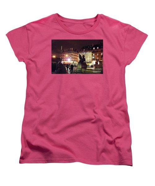 Women's T-Shirt (Standard Cut) featuring the photograph Place Saint-michel by Felipe Adan Lerma