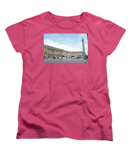 Women's T-Shirt (Standard Cut) featuring the photograph Place Vendome by Christopher Kirby
