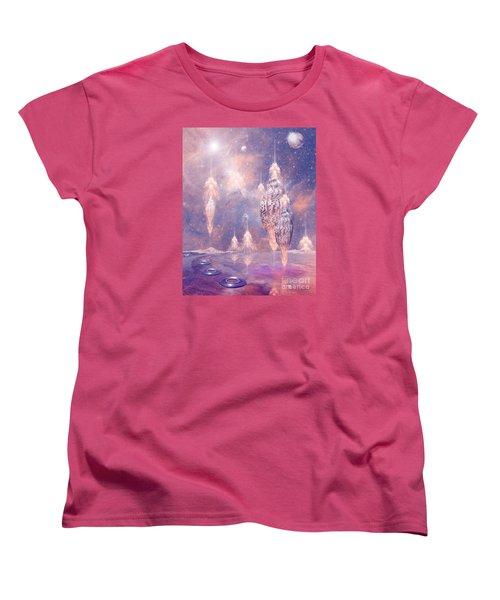 Women's T-Shirt (Standard Cut) featuring the digital art Shell City by Alexa Szlavics