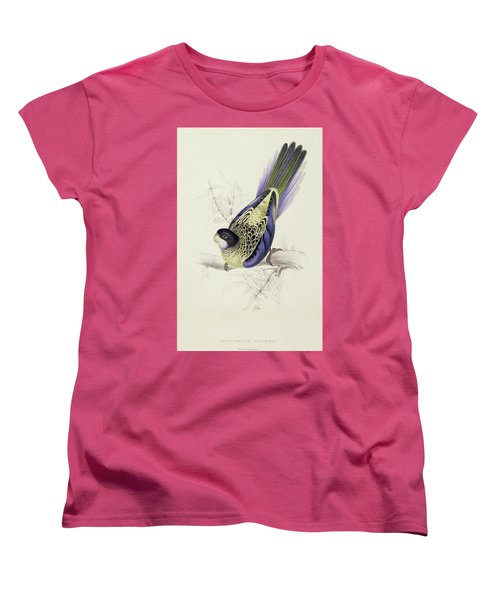 Platycercus Brownii, Or Browns Parakeet Women's T-Shirt (Standard Cut) by Edward Lear