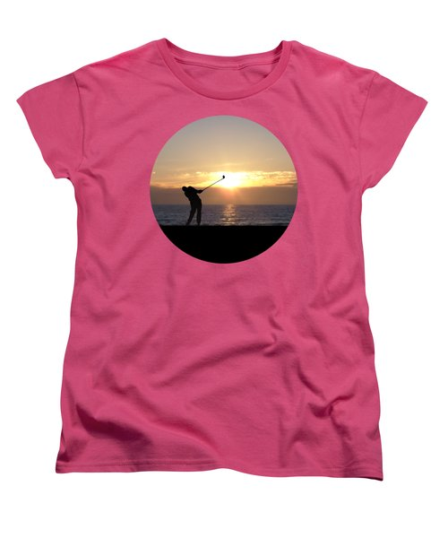 Playing Golf At Sunset Women's T-Shirt (Standard Cut) by Phil Perkins