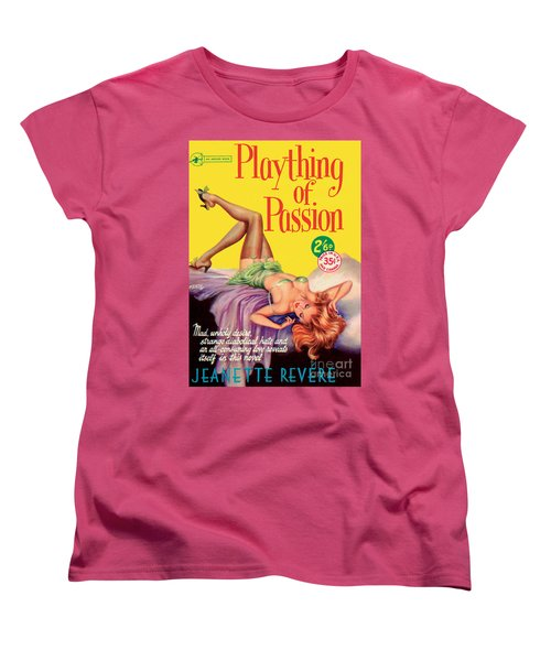 Women's T-Shirt (Standard Cut) featuring the painting Plaything Of Passion by Reginald Heade