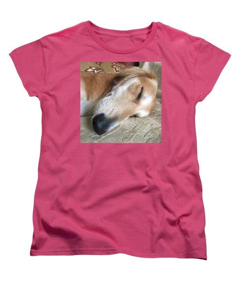 Please Be Quiet. Saluki Women's T-Shirt (Standard Cut) by John Edwards