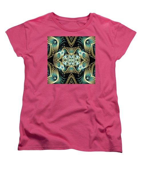 Women's T-Shirt (Standard Cut) featuring the digital art Poetry In Motion by Lea Wiggins