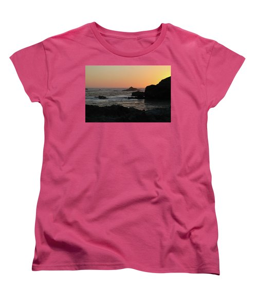 Women's T-Shirt (Standard Cut) featuring the photograph Point Lobos Sunset by David Chandler
