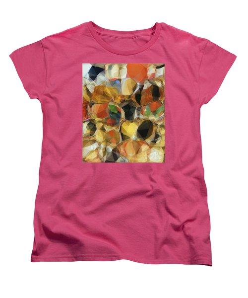 Crazy Quilt Women's T-Shirt (Standard Cut) by Kathie Chicoine