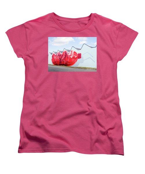 Women's T-Shirt (Standard Cut) featuring the photograph Polar Bear In A Coke Bottle by Chris Dutton