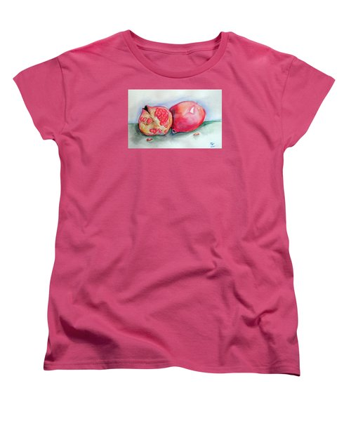Pomegranates Women's T-Shirt (Standard Cut) by Loretta Nash