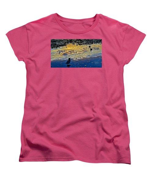 Pondscape Women's T-Shirt (Standard Cut) by Jeffrey Friedkin