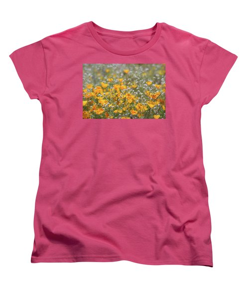 Women's T-Shirt (Standard Cut) featuring the photograph Poppies Fields Forever  by Saija Lehtonen