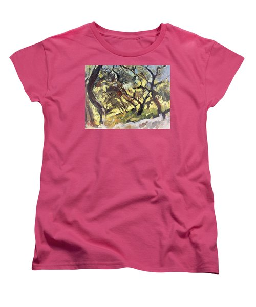 Popping Sunlight Through The Olive Grove Women's T-Shirt (Standard Fit)