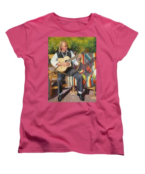 Women's T-Shirt (Standard Cut) featuring the painting Por Tu Amor by Donelli  DiMaria