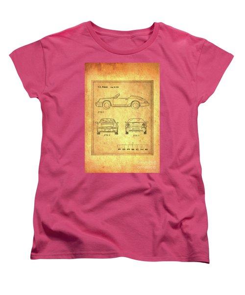 Porsche Blueprint Women's T-Shirt (Standard Cut) by Steven Parker