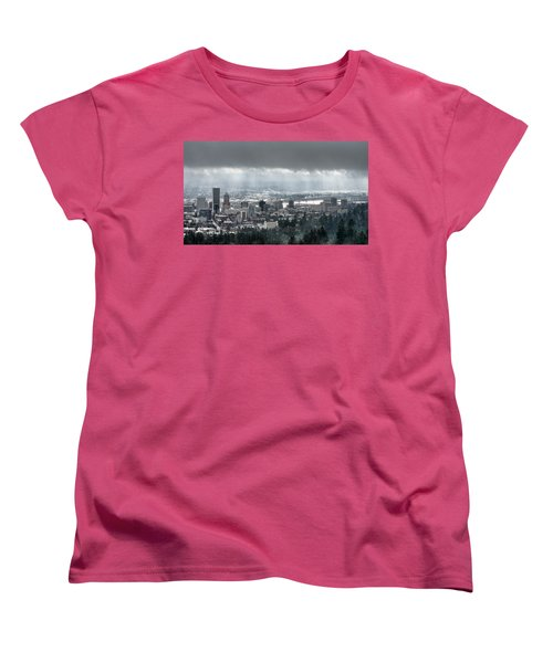 Portland After A Morning Rain Women's T-Shirt (Standard Cut)