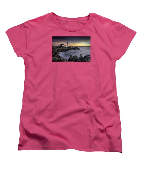 Portland Head Light Women's T-Shirt (Standard Cut) by Fred LeBlanc