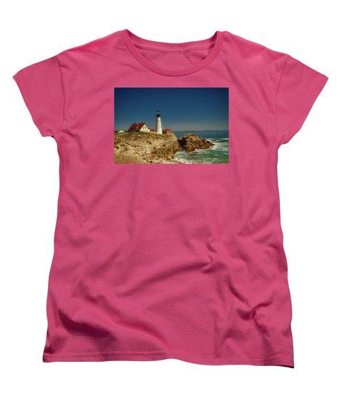 Portland Head Lighthouse 2 Women's T-Shirt (Standard Cut) by Sherman Perry