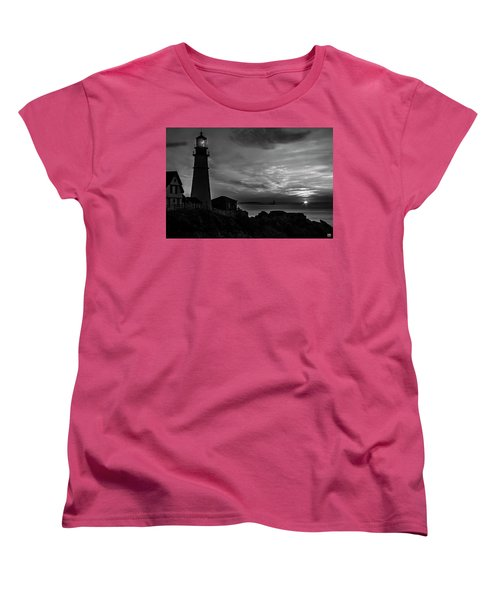 Portland Head Noir Women's T-Shirt (Standard Cut)