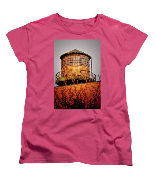 Portland Water Tower IIi Women's T-Shirt (Standard Cut) by Albert Seger