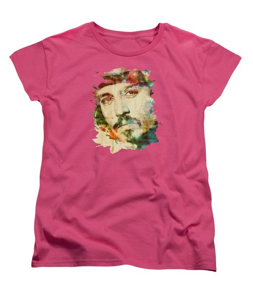 Portrait Of Johnny Women's T-Shirt (Standard Cut) by Maria Arango