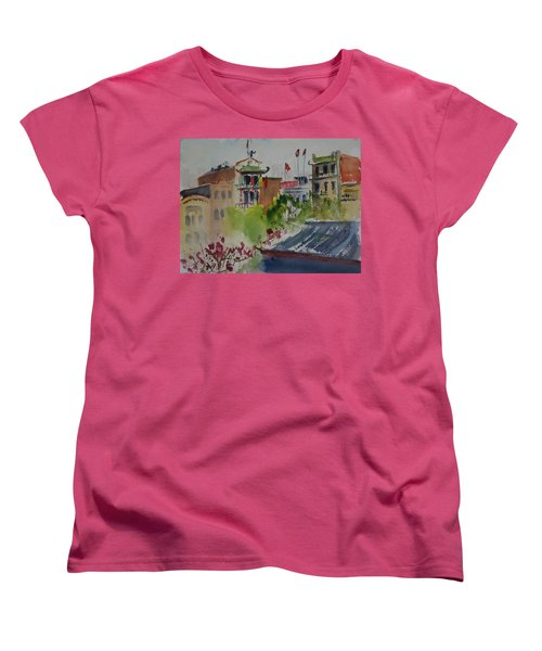 Portsmouth Square1 Women's T-Shirt (Standard Cut) by Tom Simmons