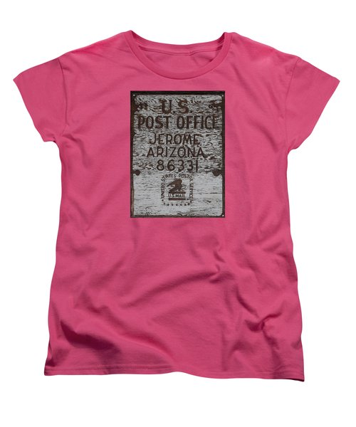 Women's T-Shirt (Standard Cut) featuring the photograph Post Office Jerome - Arizona by Dany Lison