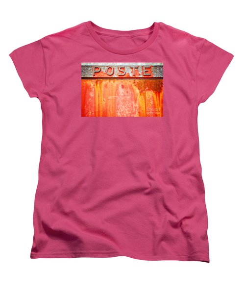 Poste Italian Weathered Mailbox Women's T-Shirt (Standard Cut) by Silvia Ganora