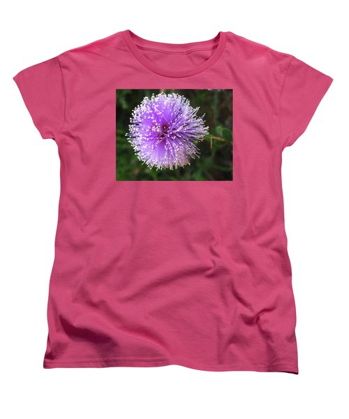 Purple Orb Women's T-Shirt (Standard Cut) by Mary Ellen Frazee