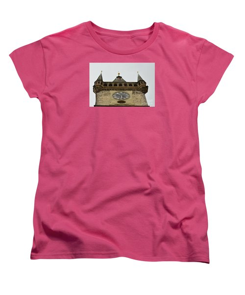 Women's T-Shirt (Standard Cut) featuring the digital art Prague-architecture 2 by Leo Symon
