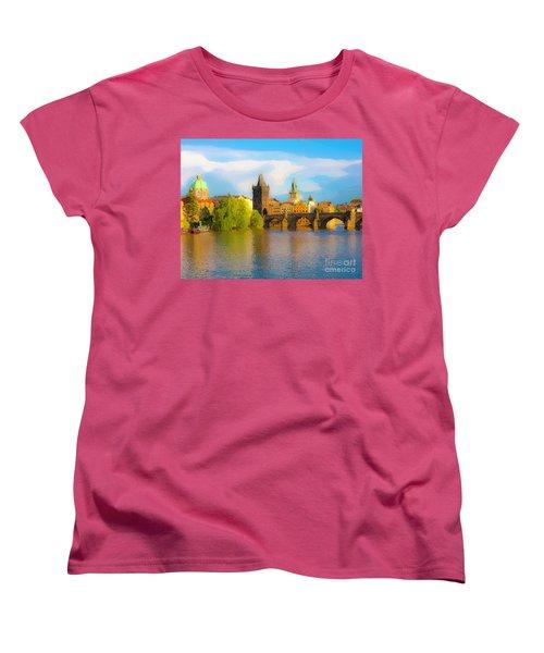 Praha - Prague - Illusions Women's T-Shirt (Standard Cut) by Tom Cameron