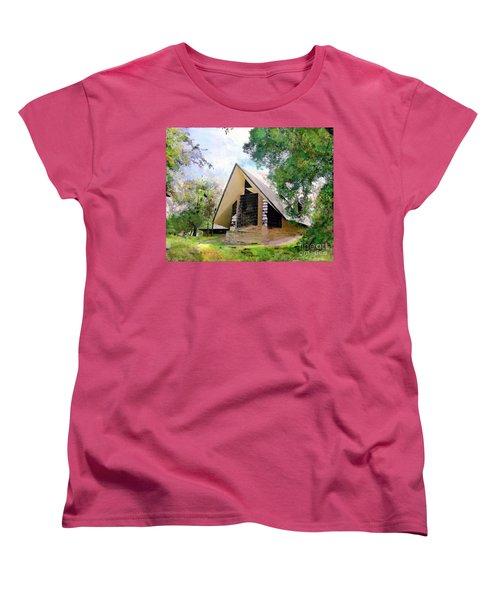Praying Hands Women's T-Shirt (Standard Cut) by John Robert Beck