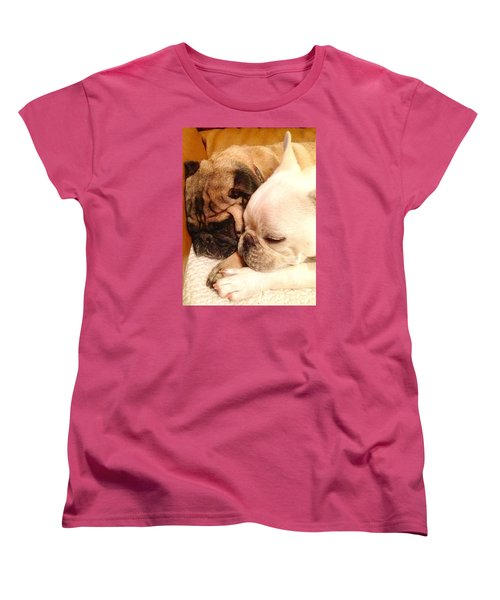 Praying Paws Women's T-Shirt (Standard Cut) by Russell Keating