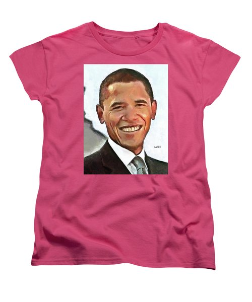 President Barack Obama Women's T-Shirt (Standard Cut) by Wayne Pascall