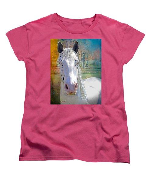 Pretty Eyes Women's T-Shirt (Standard Cut) by Bonnie Willis