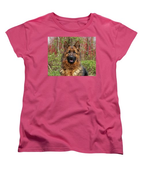 Women's T-Shirt (Standard Cut) featuring the photograph Pretty Girl Onja by Sandy Keeton
