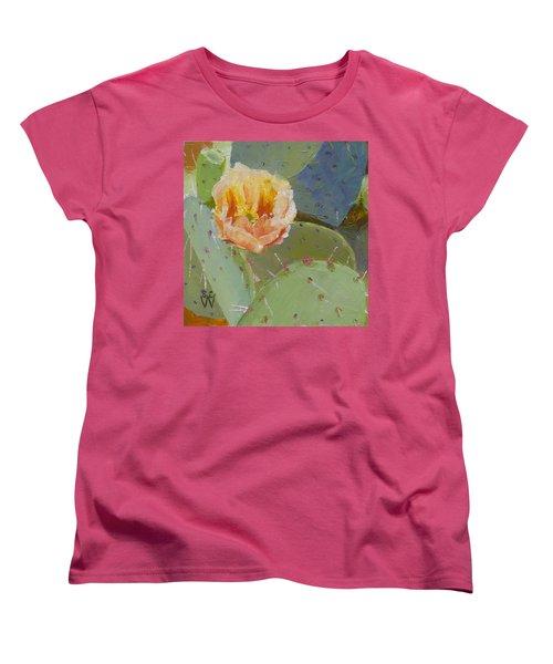 Prickly Pear Blossom Women's T-Shirt (Standard Cut) by Susan Woodward