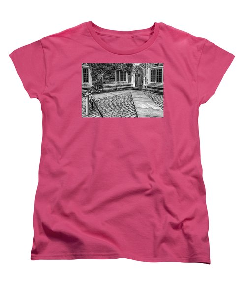 Women's T-Shirt (Standard Cut) featuring the photograph Princeton University Foulke Hall Bw by Susan Candelario