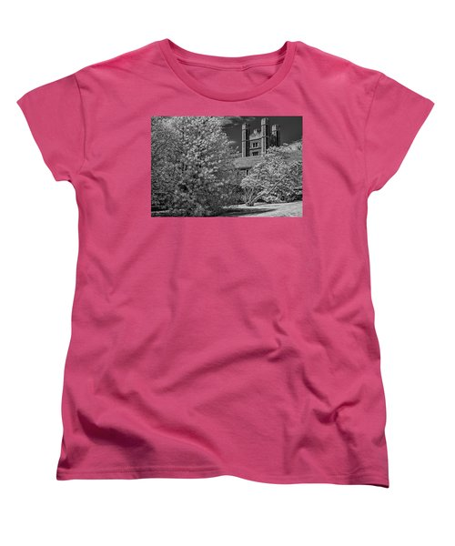 Women's T-Shirt (Standard Cut) featuring the photograph Princeton University Buyers Hall by Susan Candelario