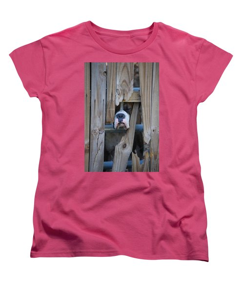 Psst Help Me Outta Here Women's T-Shirt (Standard Cut) by DigiArt Diaries by Vicky B Fuller