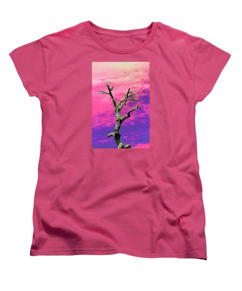Psychedelic Tree Women's T-Shirt (Standard Cut) by Richard Patmore