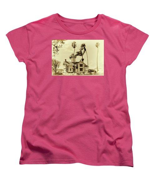 Pt. Fermin Lighthouse Women's T-Shirt (Standard Cut) by Joseph Hollingsworth