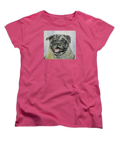 One Eyed Pug Portrait Women's T-Shirt (Standard Cut)