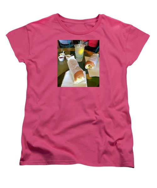 Women's T-Shirt (Standard Cut) featuring the photograph Puka Dogs by Brenda Pressnall