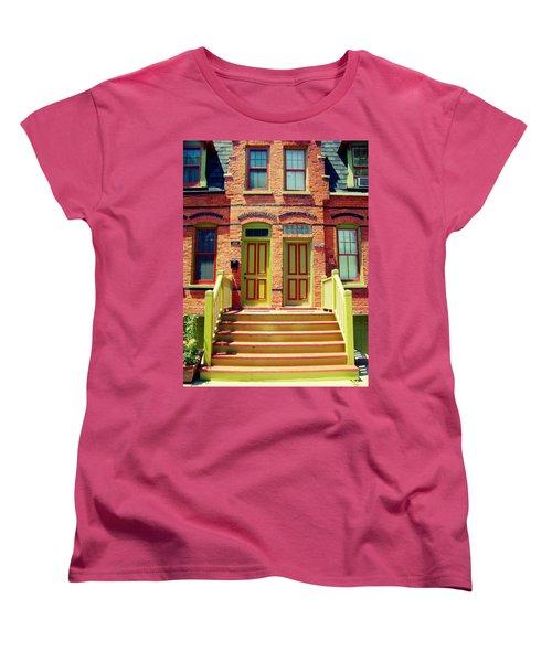 Pullman National Monument Row House Women's T-Shirt (Standard Cut) by Kyle Hanson