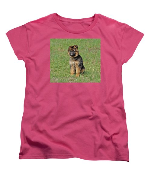 Women's T-Shirt (Standard Cut) featuring the photograph Puppy Halo by Sandy Keeton