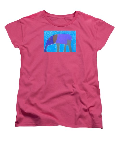 Women's T-Shirt (Standard Cut) featuring the pastel Purple Elephant by Artists With Autism Inc