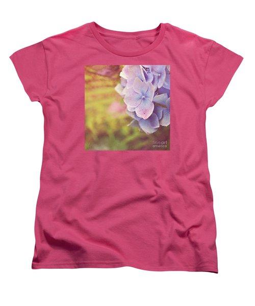 Women's T-Shirt (Standard Cut) featuring the photograph Purple Hydrangea by Lyn Randle